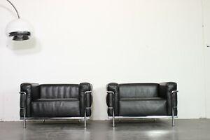 Cassina Lc 3 Le Corbusier Design LederSessel Chair zu Sofa Couch