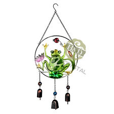 New Large Frog 3 Bells Wind Chime Garden Outdoor Liveing Decor Gifts Windchimes