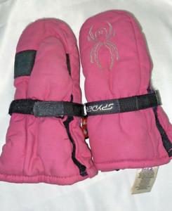 SPYDER Girls winter gloves size S- Pink spider