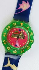 Vintage Swatch 1991 Happy Fish SCUBA Water Resistant 200m Swiss NEW BATTERY
