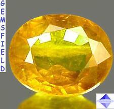 SI !! 0.75ct !! ZAFIRO del SRI LANKA - luminoso amarillo ambarino - pulido AAA++