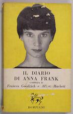 Goodrich Hackett IL DIARIO DI ANNA FRANK Commedia 1958 Bompiani Pegaso Teatrale