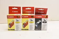 Canon (2) 3e Yellow BCI-3eY & (1) Black BCI-3eBK Ink Tanks