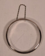 Bangle Bracelet with Safety Chain Sterling Silver Hinged Baby Childs Girl