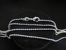 "Necklace 925 Sterling Silver "" BALL "" Chain 70cm x 1mm Beautiful Gift Idea NEW"