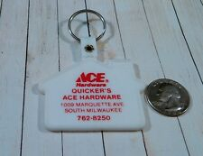 Vintage Quicker's Ace Hardware South Milwaukee Keychain Fob