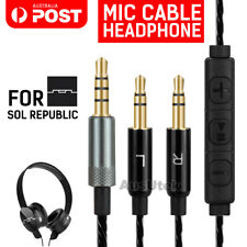 For Sol Republic Replacement Mic Cable Master Tracks Headphone HD V8 V10 V12 X3