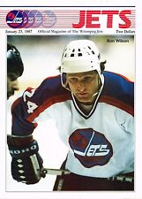 1987 Winnipeg Jets Home vs Toronto Maple Leafs NHL Hockey Program #63