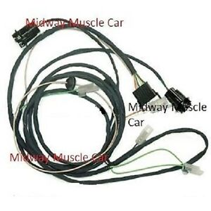 rear body tail light wiring harness 65 Pontiac GTO LeMans  convertible