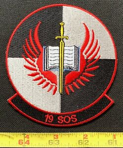 USAF 19th Special Operations Squadron 19 SOS Military Embroidered Iron On Patch