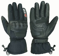 KYB Waterproof CORDURA Real Leather Motorbike Motorcycle Gloves Hard Knuckle UK