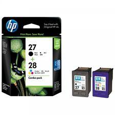 Genuine HP 28 + 27 Nero Colour CARTUCCE 2 anno garanzia 1st Classe Spedizione Rapida