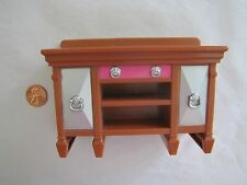 Rare! FISHER PRICE Loving Family Dollhouse DINING BUFFET Sideboard Cabinet Decor
