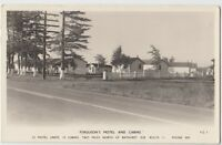 1958 BATHURST New Brunswick NB Canada Real Photo RPPC Postcard FERGUSONS MOTEL