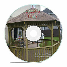 Original Design Gazebo Plans, 12ft Octagon Gazebo Plans, Learn How To Build One