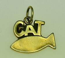 LOOK Sterling Silver charm Cat for bracelet necklace Kitten