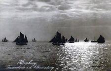 alte Ansichtskarte Hamburg Fischerboote in der Elbmündung