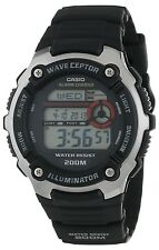 Casio WV200A-1A Men's Resin Band World Time Multi Band Atomic Watch