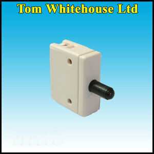 2x Surface Mount mortice contact switch 240V 2A Push To Break Cupboard Door
