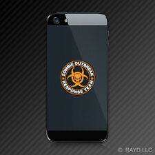 (2x) Orange Zombie Outbreak Response Team Cell Phone Sticker Apocalypse Mobile