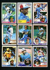 1983 Topps SIGNED LOT of 86 cards Kaat Armas Raines Dave Parker Martinez Reardon