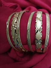 Indian Wedding New Handmade Designer Gold Plated Kada Bracelet Bangles 6 pc-2.4