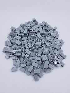 LEGO LOT 100 X BRIQUE MASONRY 1X2 GRIS CLAIR /LIGHT BLUISH GRAY REF 98283 NEUVES