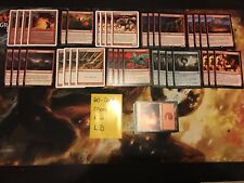 Mtg Complete 60-Card Decks - **Mono Red Land Destruction** - Magnivore + More