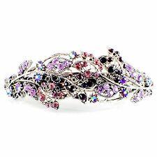 WOMENS VINTAGE BARRETTE Rhinestone Crystal Hair Clip Hairpin Elegant Purple 5_4