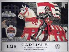 TRAVEL CARLISLE KNIGHT CASTLE HORSE GATEWAY SCOTLAND UK BRITISH POSTER 957PY