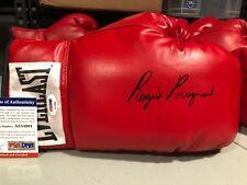 REGIS PROGRAIS Signed Autograph Auto Everlast Leather Lace Up Boxing Glove PSA