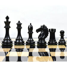 Exclusive Alban Staunton Weighted Chess Pieces set - Ebony Wood- 4 Queens