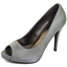 Zapatos de tacón de mujer sin marca color principal plata