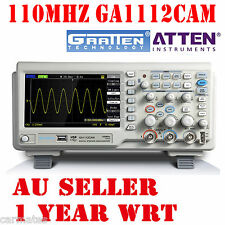 "ATTEN OSCILLOSCOPE GA1112CAM 110MHz 2Mpt 1GS 7"" LCD Screen USB 100Mhz Multimeter"