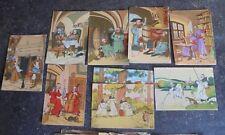 Carte Illustrateur Harry Heliott Moines Moine Cuisinier Jeu de Quille Pécheur ..