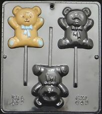 Teddy Bear Lollipop Chocolate Candy Mold Baby Shower  648 NEW