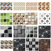 DIY Self Adhesive Mosaic Tile Waterproof  Wall Sticker Kitchen Decals Home Decor