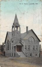 B21/ Laurelville Ohio Postcard c1910 M.E. Church Building Hocking County Logan