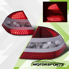 00-05 Benz W220 S-Class S430/S500/S600/S55 AMG LED Tail Lights Lamps Red Clear