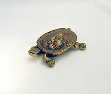 Antique BRASS  Turtle TRINKET Opening BOX Pill Box Jewelry Holder