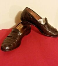 Salvatore Ferragamo Crocodile leather men's loafers Brown color size 9 1/2 D
