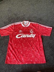1989 - 1991 Liverpool Home Football Shirt, Adidas, Large - VINTAGE FOOTBALL