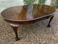 Antique Solid Mahogany Extending dining Table  . Delivery Available Most Uk Area