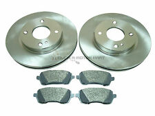 FORD FIESTA MK7 1.25 1.4 1.6 & TDCi 2008-2017 FRONT 2 VENTED BRAKE DISCS & PADS