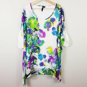 [ TS TAKING SHAPE ] Womens Tie Dye Patterned Short Sleeve Top  | Size AU 18