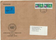 1983 United Nations Wien oversize cover sent to Kassel