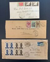 Cameroun, Lot of 3 Postal History Items, Censored Covers Used Between 1942-1944