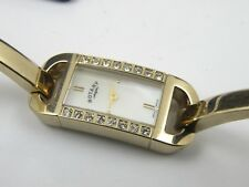 Gold Rotary LB02304/07 Ladies Bangle Watch With Crystal Bezel - 30m