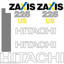 Hitachi ZX225US-3 Decals Stickers Kit - New Repro Decal Kit mirror printed