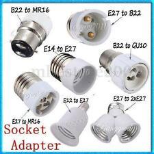 E12/E14/E27/B22/MR16/GU10 Light Lamp Bulb Holder Base Adapter Converter Socket